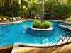 Stoneset paving surrounding a pool