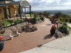Stoneset porous paving in front of a house