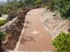 Resin bound gravel porous paving path