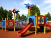 Soft fall rubber for playgrounds