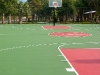 Netball court flooring outside
